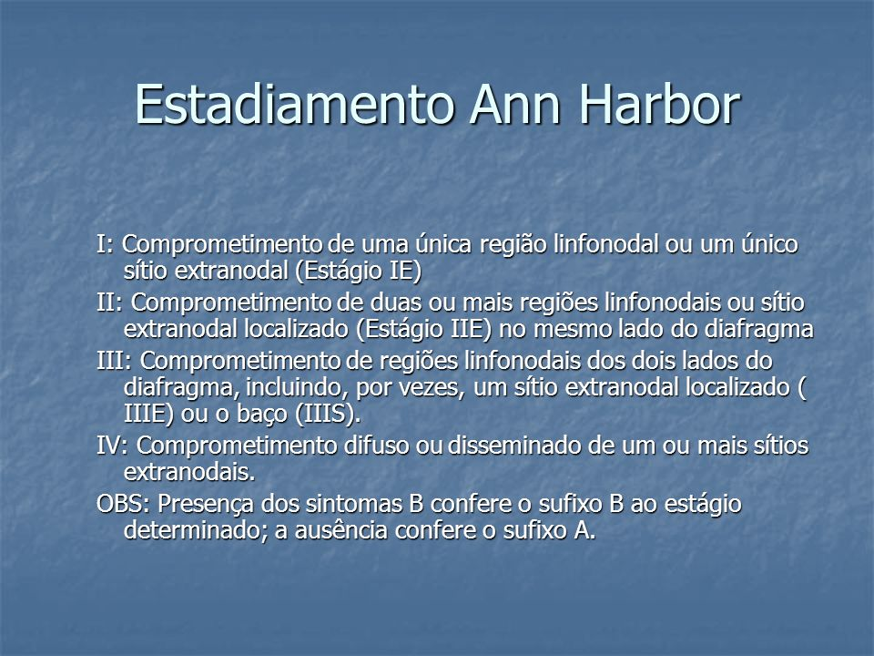 Estadiamento Ann Harbor