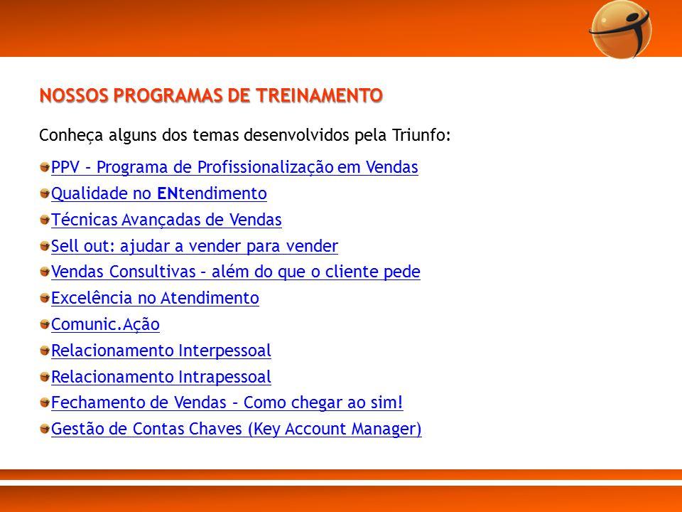 NOSSOS PROGRAMAS DE TREINAMENTO