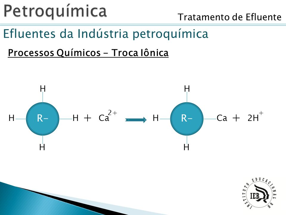 Petroquímica Efluentes da Indústria petroquímica + + R- R-