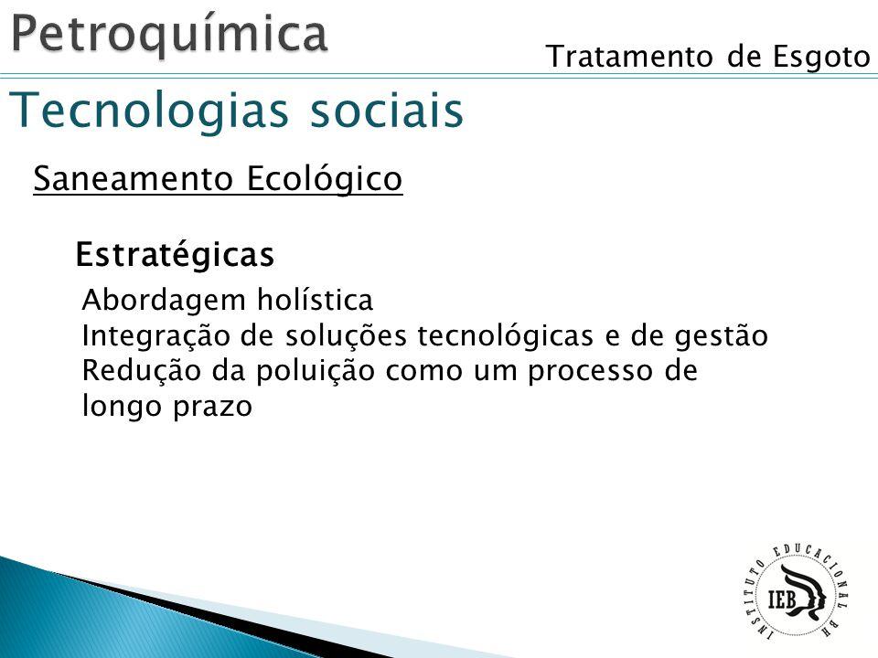 Petroquímica Tecnologias sociais Saneamento Ecológico Estratégicas