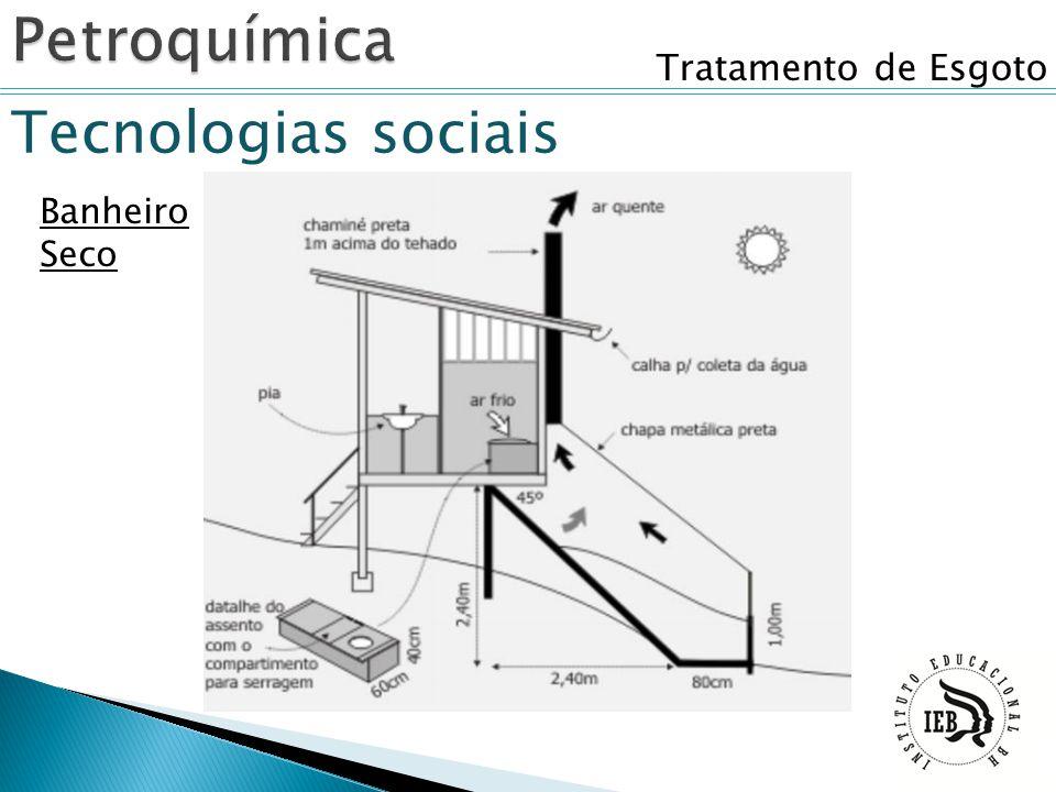 Petroquímica Tratamento de Esgoto Tecnologias sociais Banheiro Seco