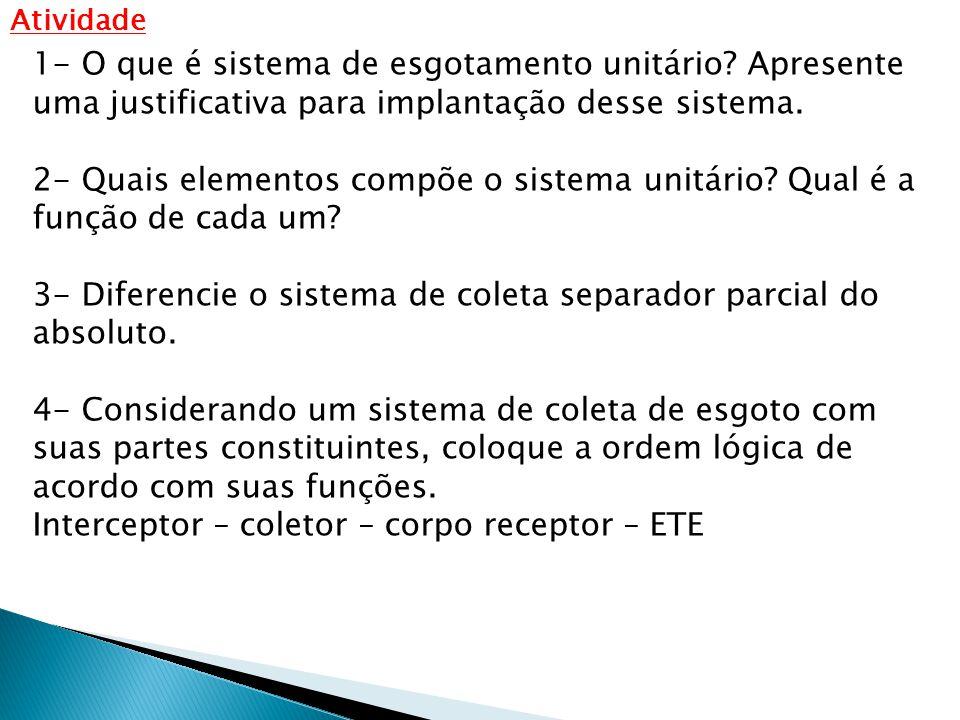 3- Diferencie o sistema de coleta separador parcial do absoluto.