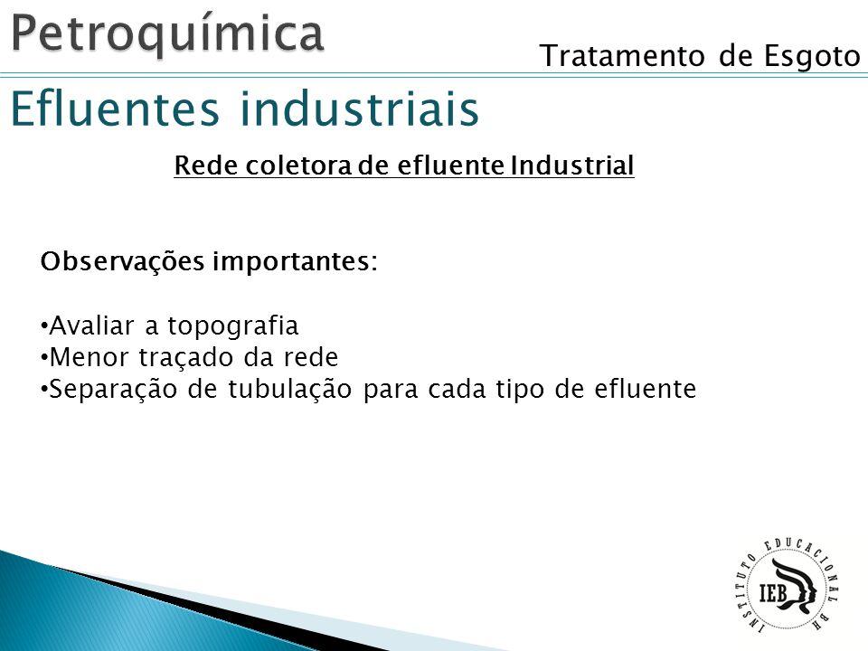 Rede coletora de efluente Industrial