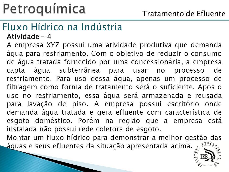 Petroquímica Fluxo Hídrico na Indústria Tratamento de Efluente