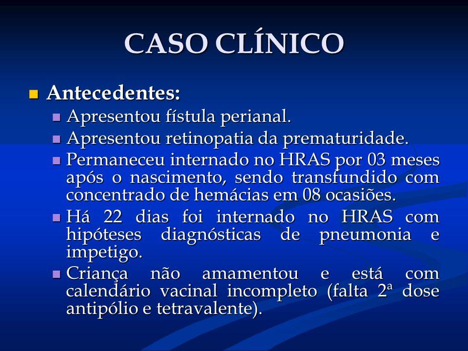 CASO CLÍNICO Antecedentes: Apresentou fístula perianal.