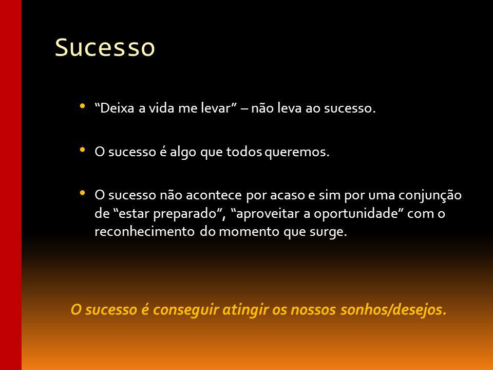 O sucesso é conseguir atingir os nossos sonhos/desejos.