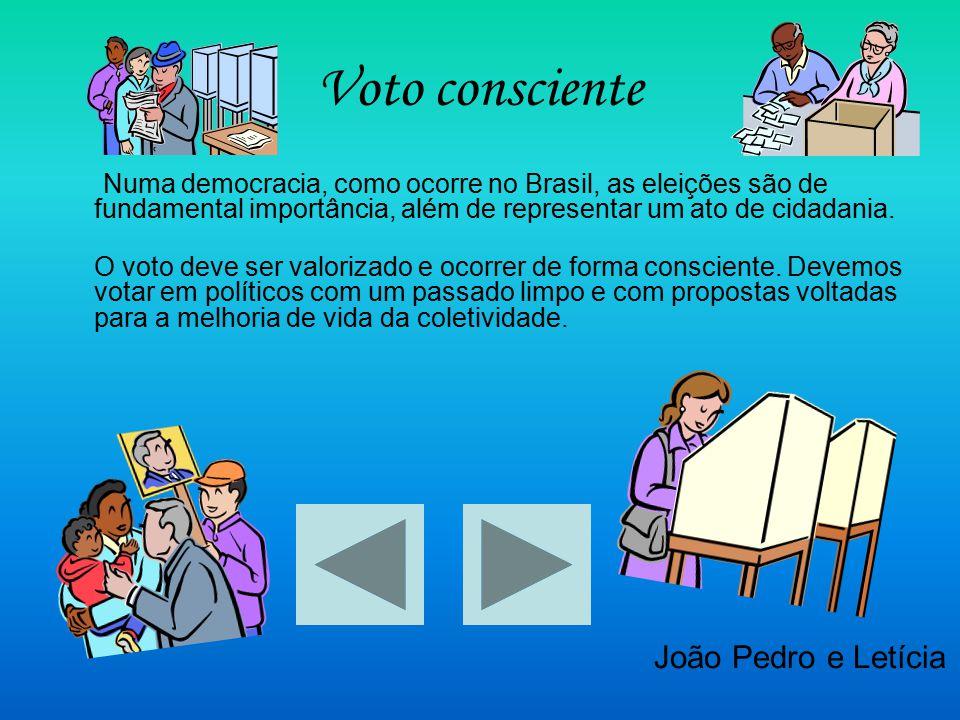Voto consciente João Pedro e Letícia