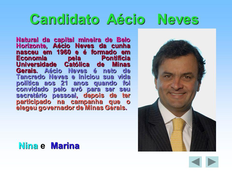 Candidato Aécio Neves Nina e Marina