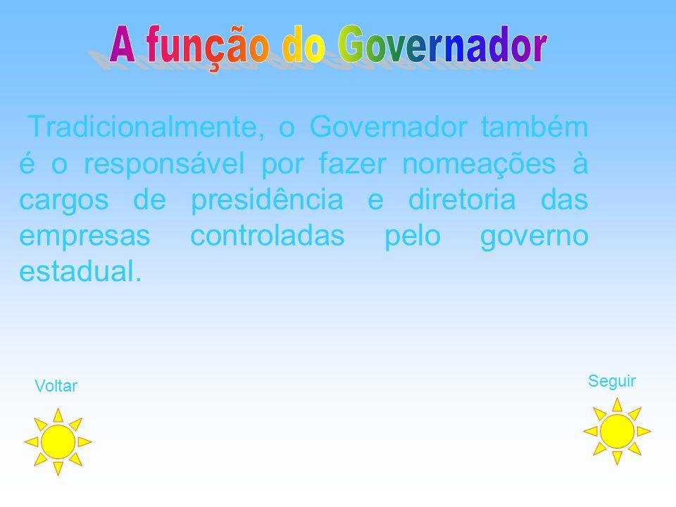 A função do Governador
