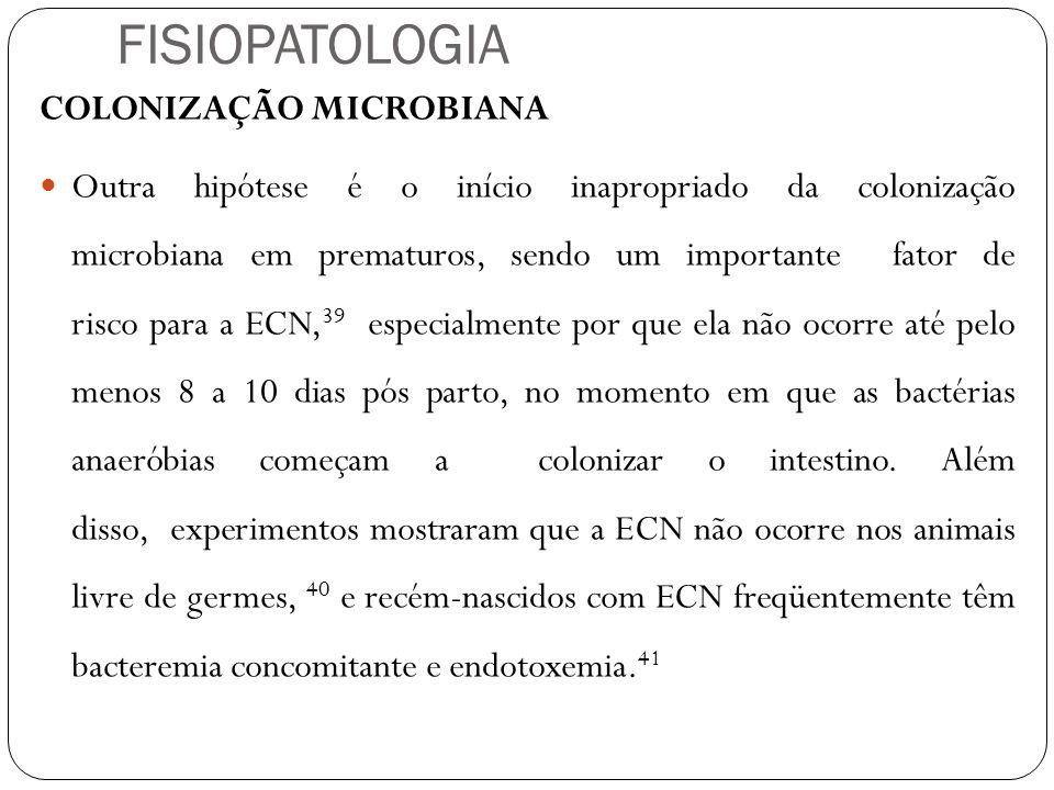 FISIOPATOLOGIA COLONIZAÇÃO MICROBIANA