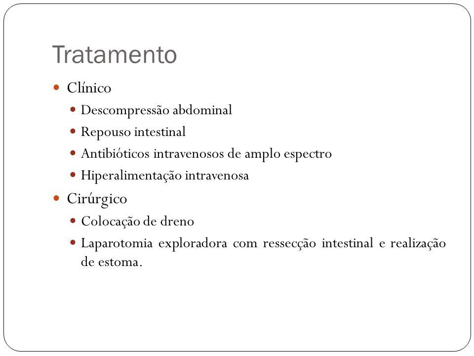 Tratamento Clínico Cirúrgico Descompressão abdominal