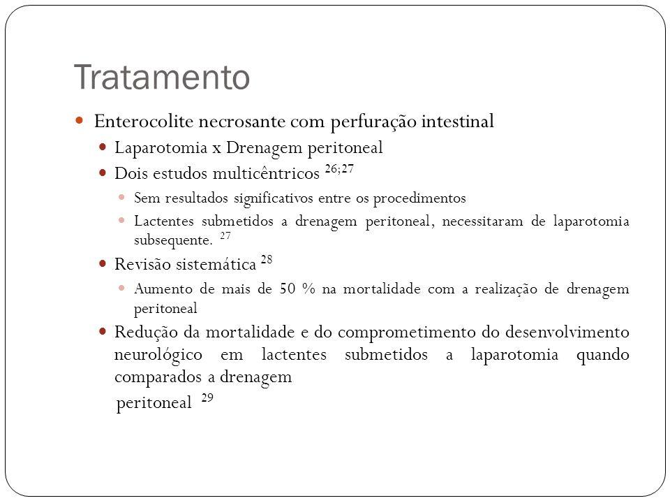 Tratamento Enterocolite necrosante com perfuração intestinal