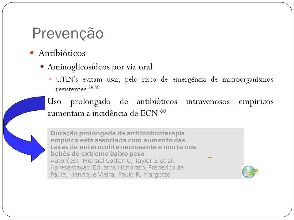 Prevenção Antibióticos Aminoglicosídeos por via oral