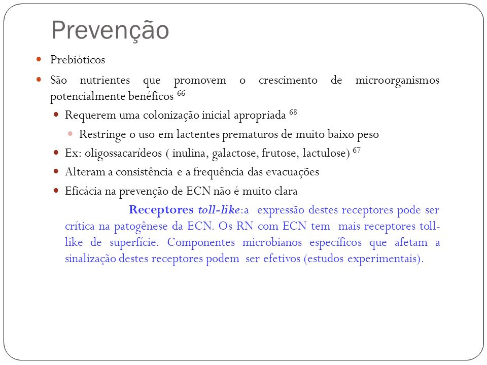 Prevenção Prebióticos