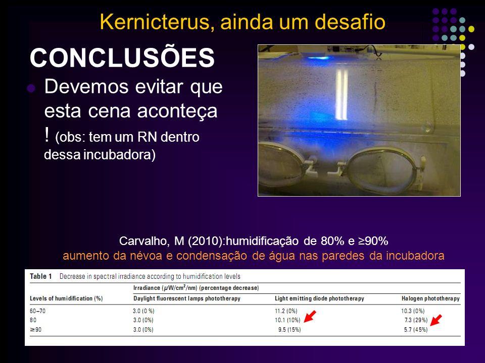 CONCLUSÕES Kernicterus, ainda um desafio