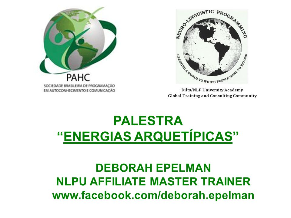 ENERGIAS ARQUETÍPICAS NLPU AFFILIATE MASTER TRAINER