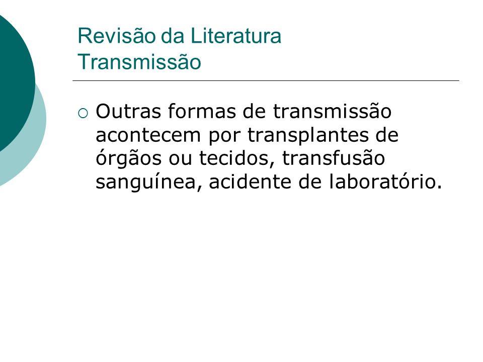 Revisão da Literatura Transmissão