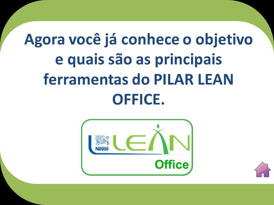 Agora você já conhece o objetivo e quais são as principais ferramentas do PILAR LEAN OFFICE.