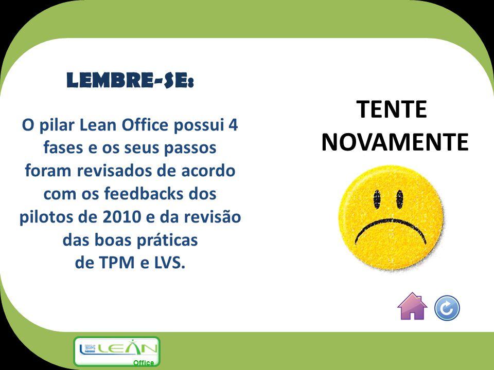 TENTE NOVAMENTE LEMBRE-SE: