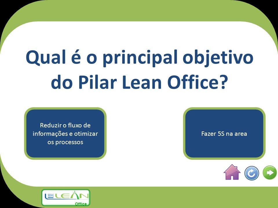 Qual é o principal objetivo do Pilar Lean Office