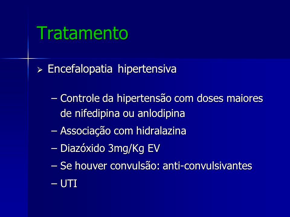 Tratamento Encefalopatia hipertensiva