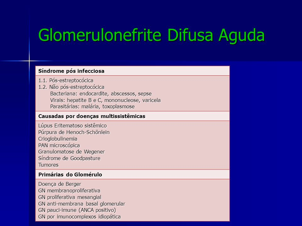 Glomerulonefrite Difusa Aguda