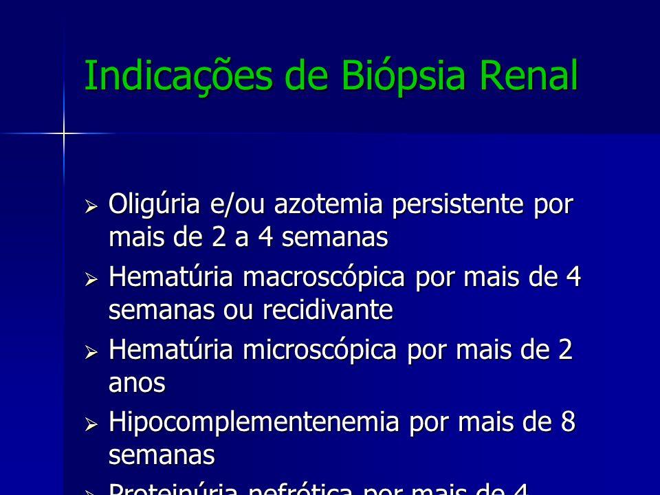 Indicações de Biópsia Renal
