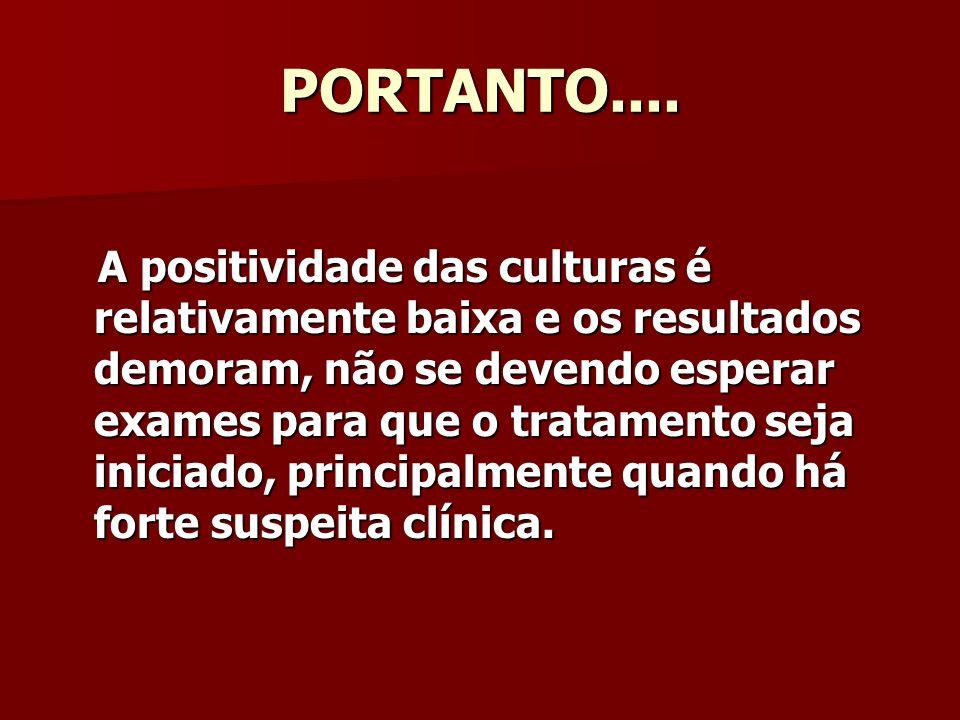 PORTANTO....
