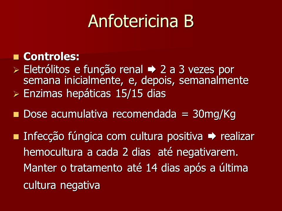 Anfotericina B Controles: