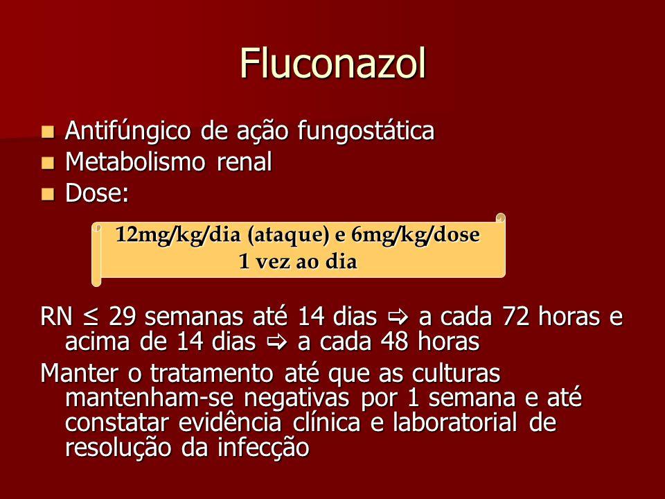 12mg/kg/dia (ataque) e 6mg/kg/dose