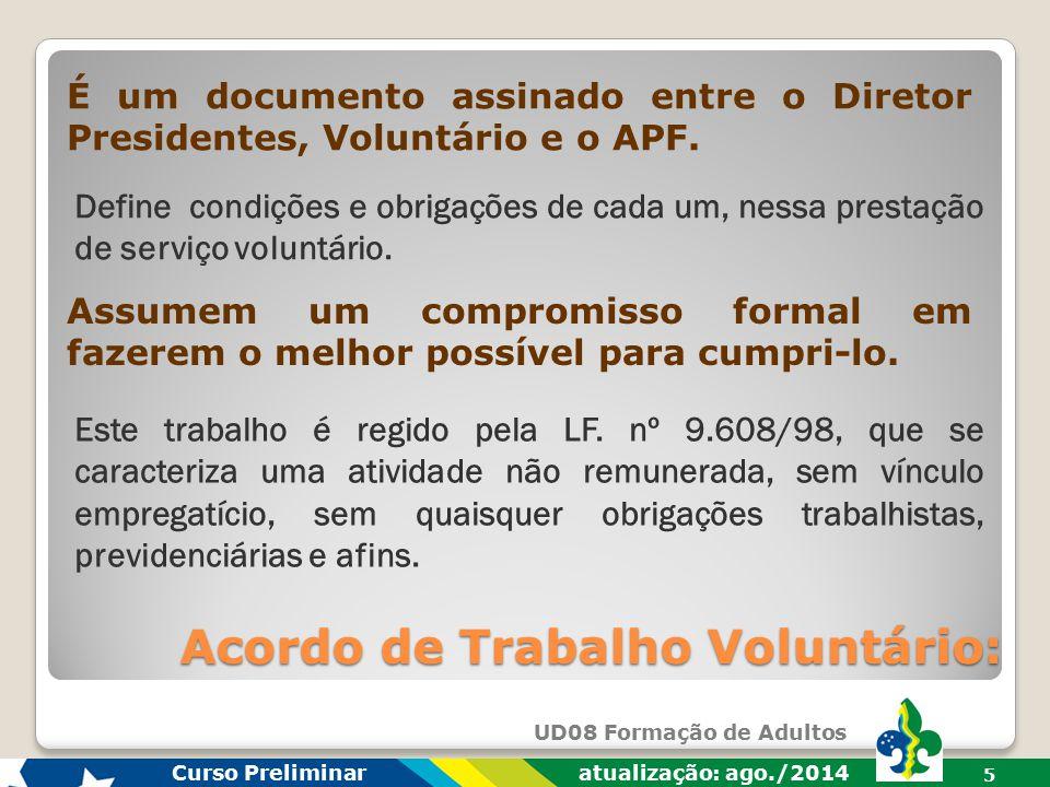 Acordo de Trabalho Voluntário: