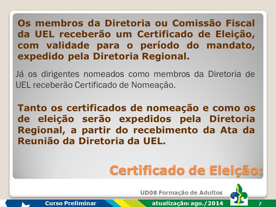 Certificado de Eleição:
