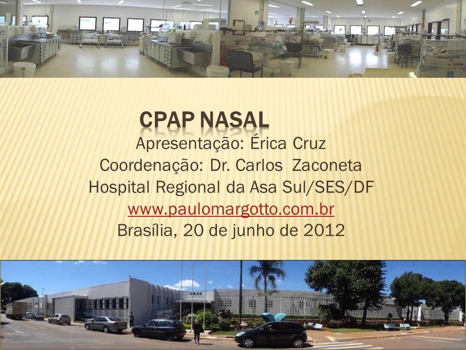 CPAP NASAL Apresentação: Érica Cruz Coordenação: Dr. Carlos Zaconeta