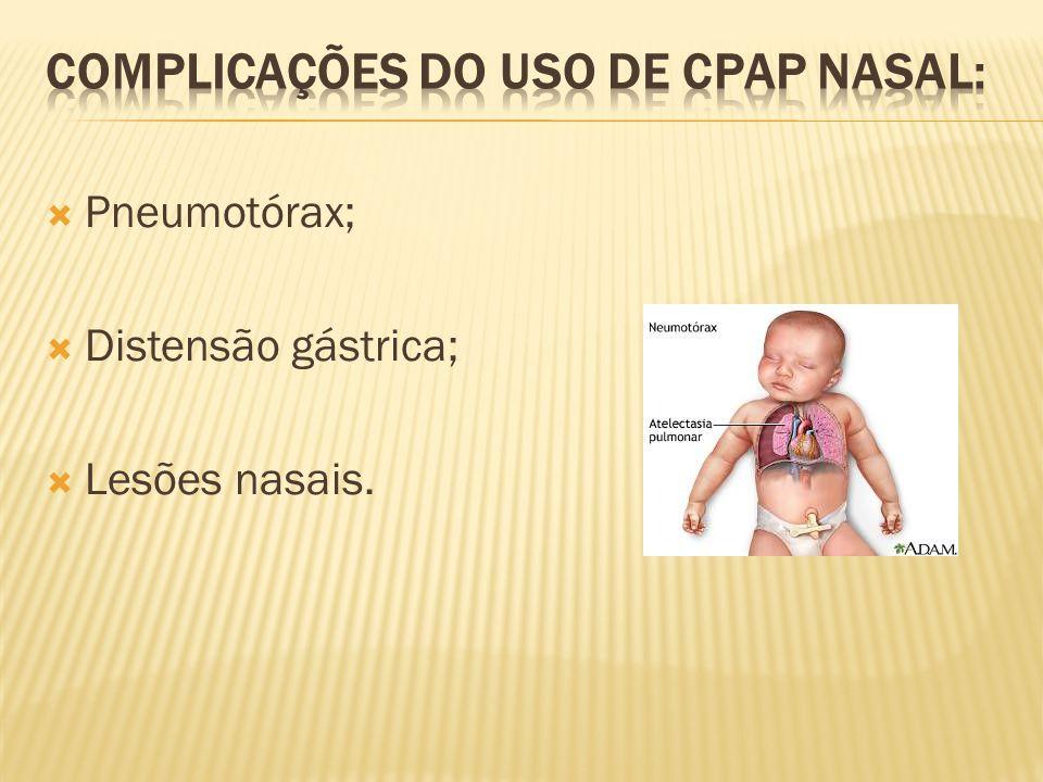 COMPLICAÇÕES DO USO DE CPAP NASAL: