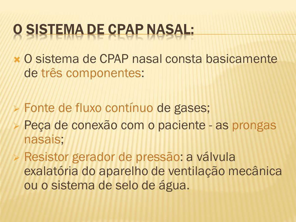 O sistema de Cpap nasaL: