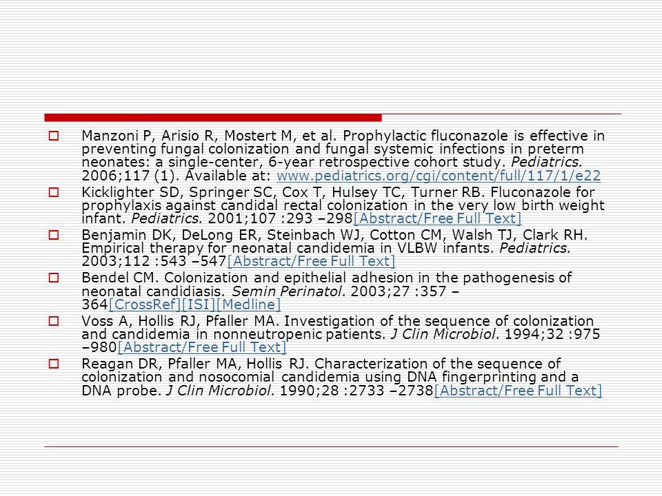 Manzoni P, Arisio R, Mostert M, et al