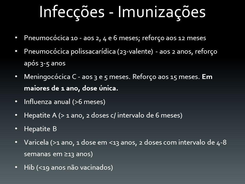 Infecções - Imunizações