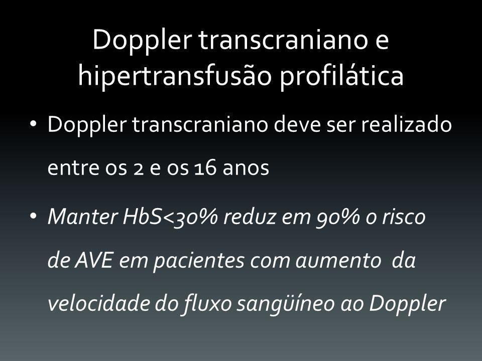 Doppler transcraniano e hipertransfusão profilática