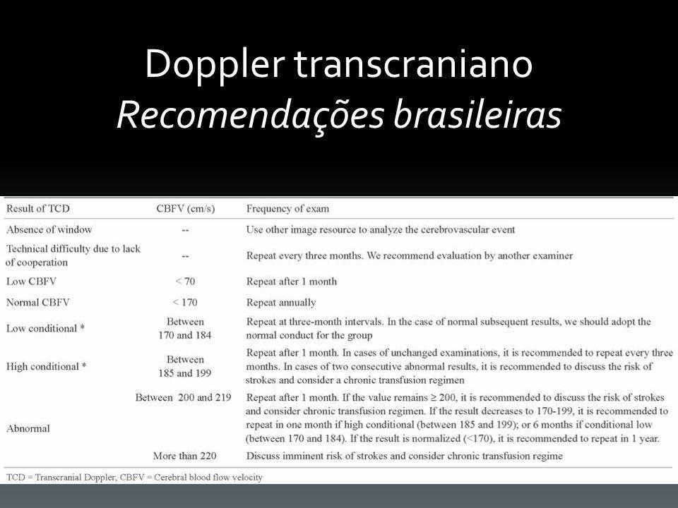 Doppler transcraniano Recomendações brasileiras