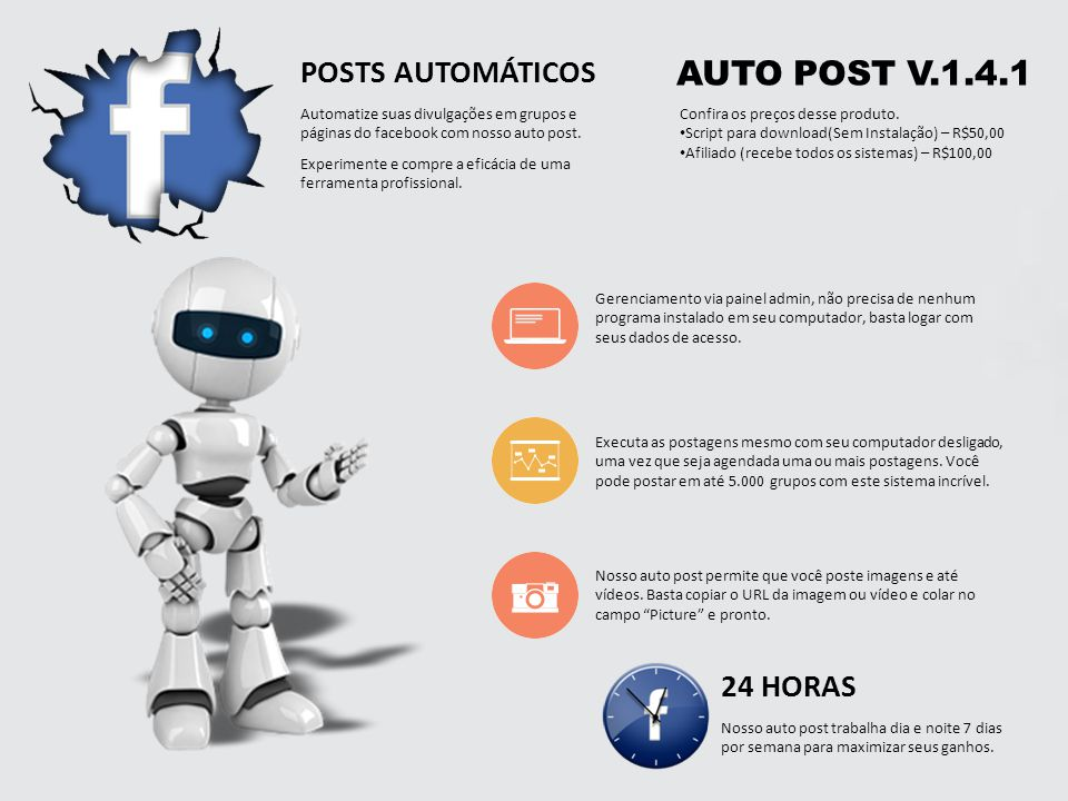 AUTO POST V.1.4.1 POSTS AUTOMÁTICOS 24 HORAS