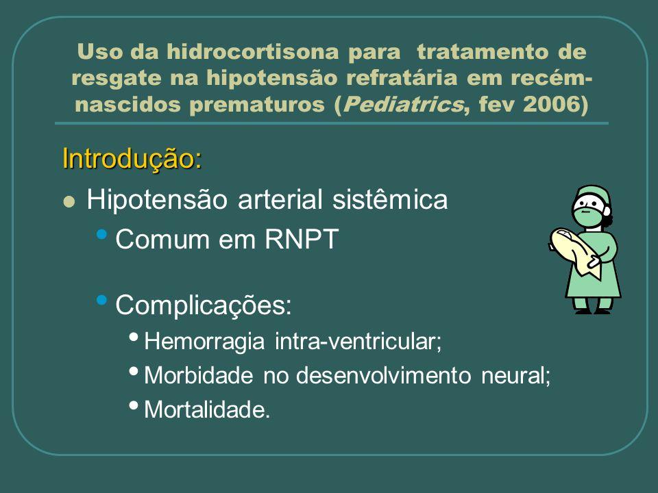 Hipotensão arterial sistêmica