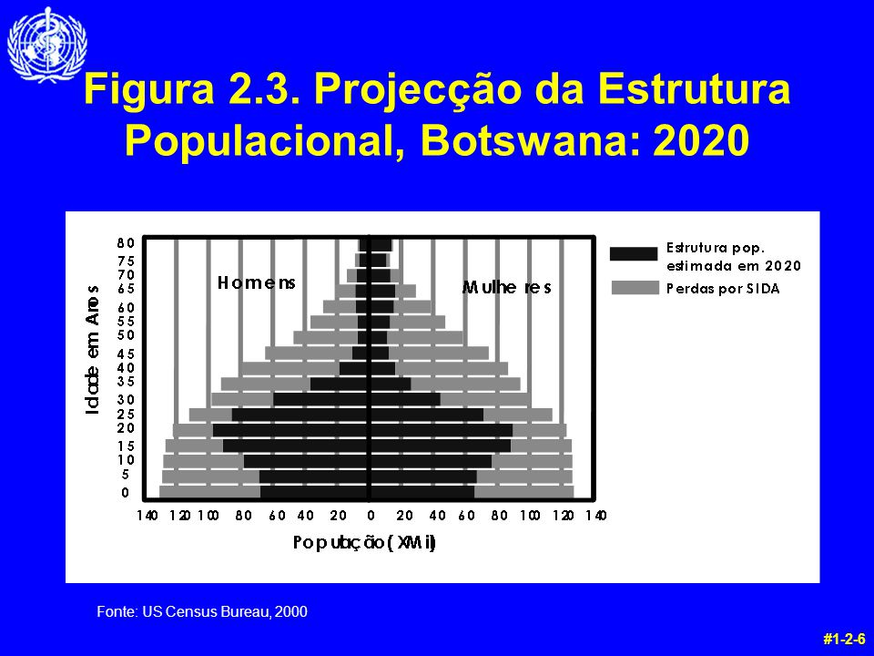 Figura 2.3. Projecção da Estrutura Populacional, Botswana: 2020