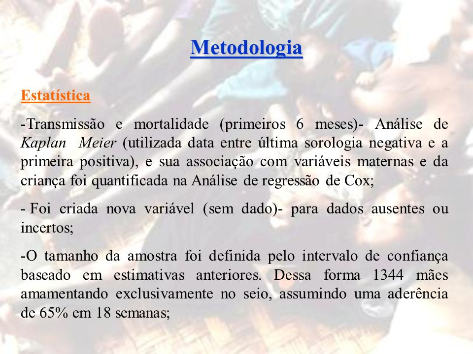 Metodologia Estatística