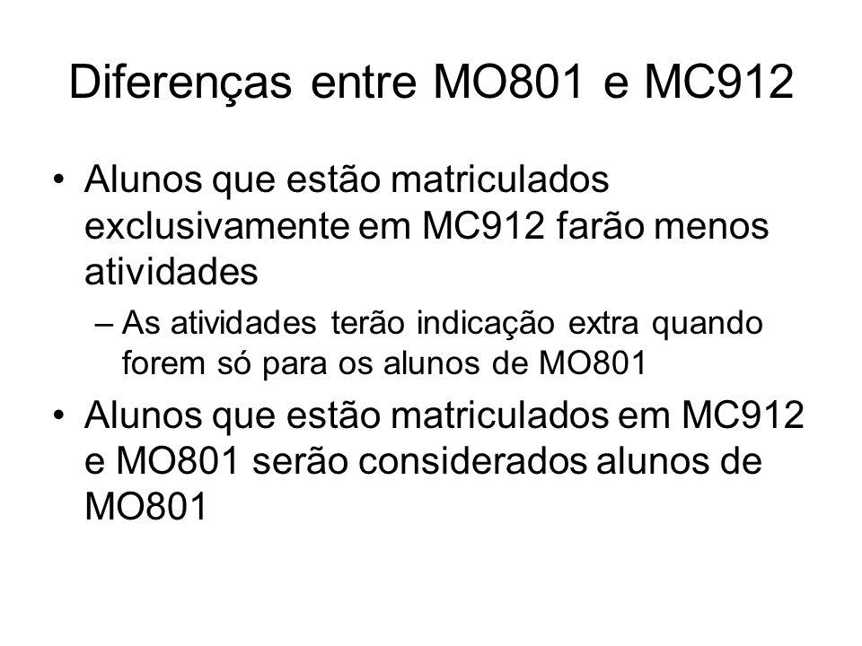 Diferenças entre MO801 e MC912
