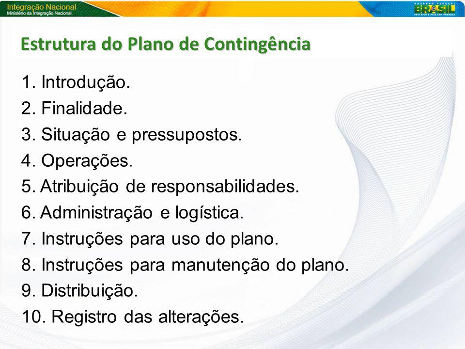 Estrutura do Plano de Contingência