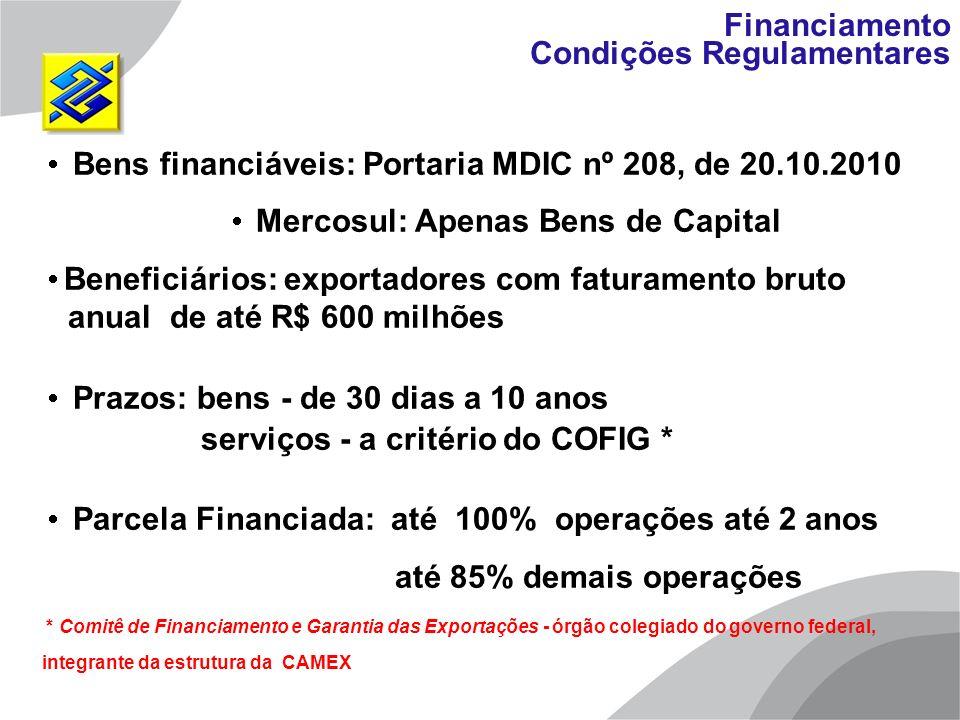 Mercosul: Apenas Bens de Capital