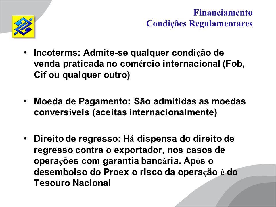 Financiamento Condições Regulamentares