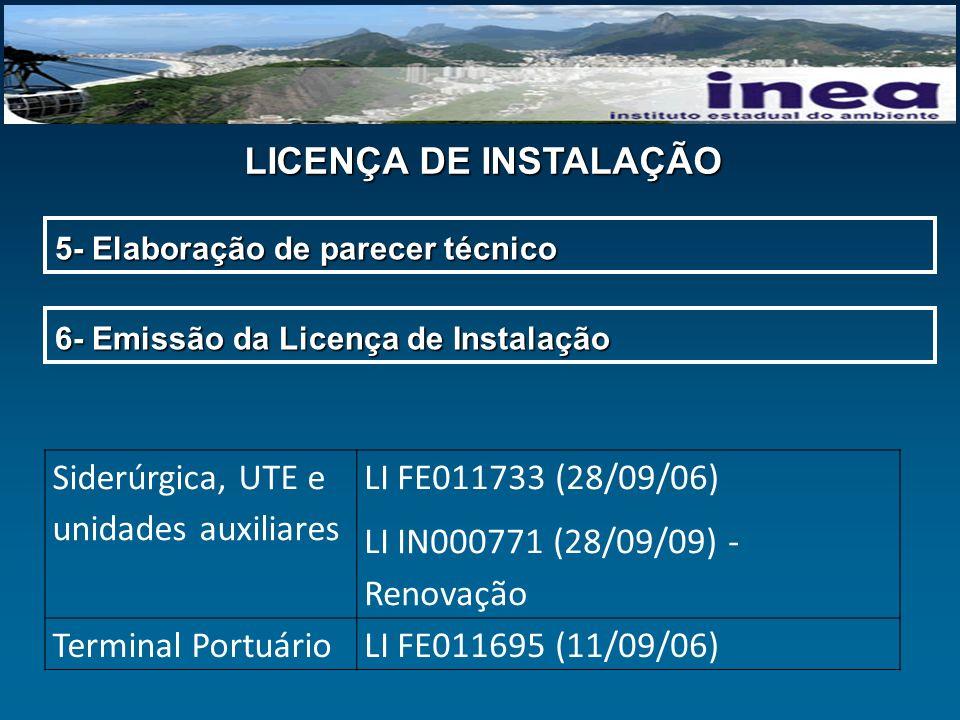 Siderúrgica, UTE e unidades auxiliares LI FE011733 (28/09/06)