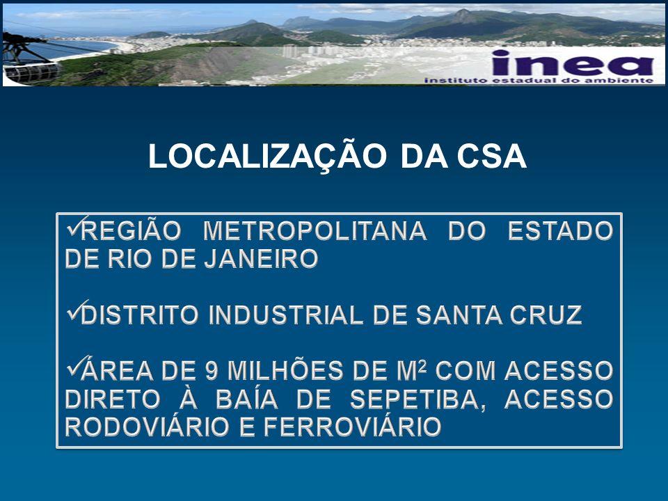 LOCALIZAÇÃO DA CSA REGIÃO METROPOLITANA DO ESTADO DE RIO DE JANEIRO