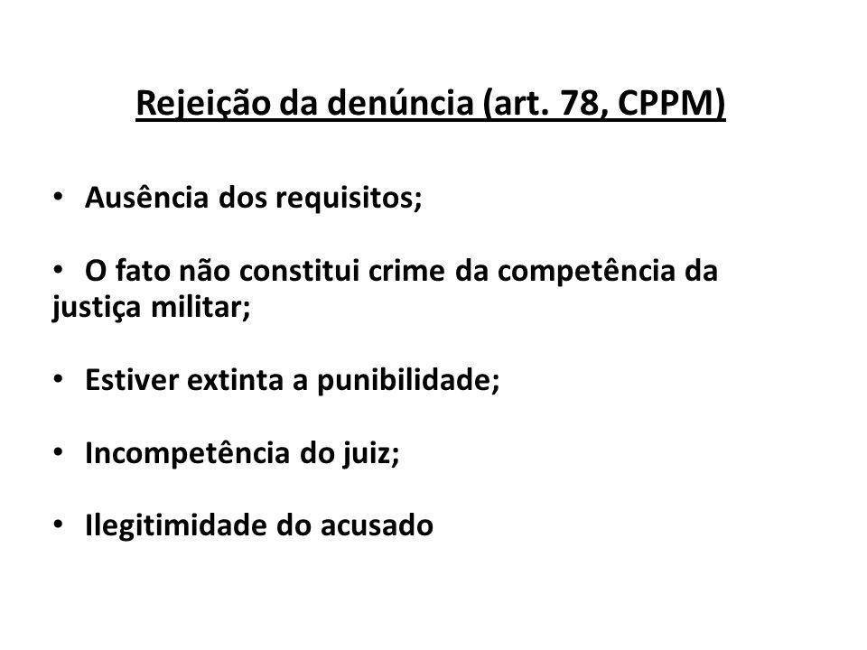 Rejeição da denúncia (art. 78, CPPM)